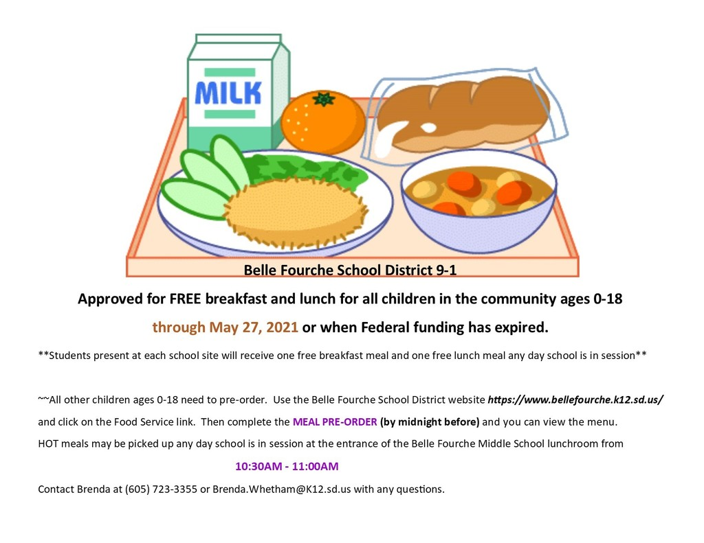 UPDATE:  free meals for all children ages 0-18 extended to May 27, 2021.